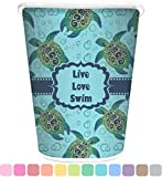 RNK Shops Sea Turtles Waste Basket - Single Sided (White) (Personalized)