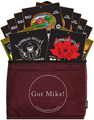 Buffalo Bills 12-Piece Beef Jerky Sampler Got Mike 6-Pack Gift Cooler (12 mixed 1.5oz jerky packs) -  Choo Choo R Snacks, Inc., BBGCD-01-MIX-GM