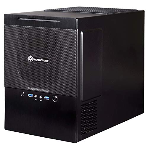 SilverStone Technology Micro-ATX/DTX/Mini-Itx Aluminum Front Panel/Steel Body Mini Tower Computer Case SG10B-USA