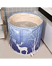 JIAJULL La bañera Plegable, bañera for Adultos de baño portátil, Engrosamiento de la Cuenca del baño, baño Principal Barril, Ducha Plegable de Viaje for niños