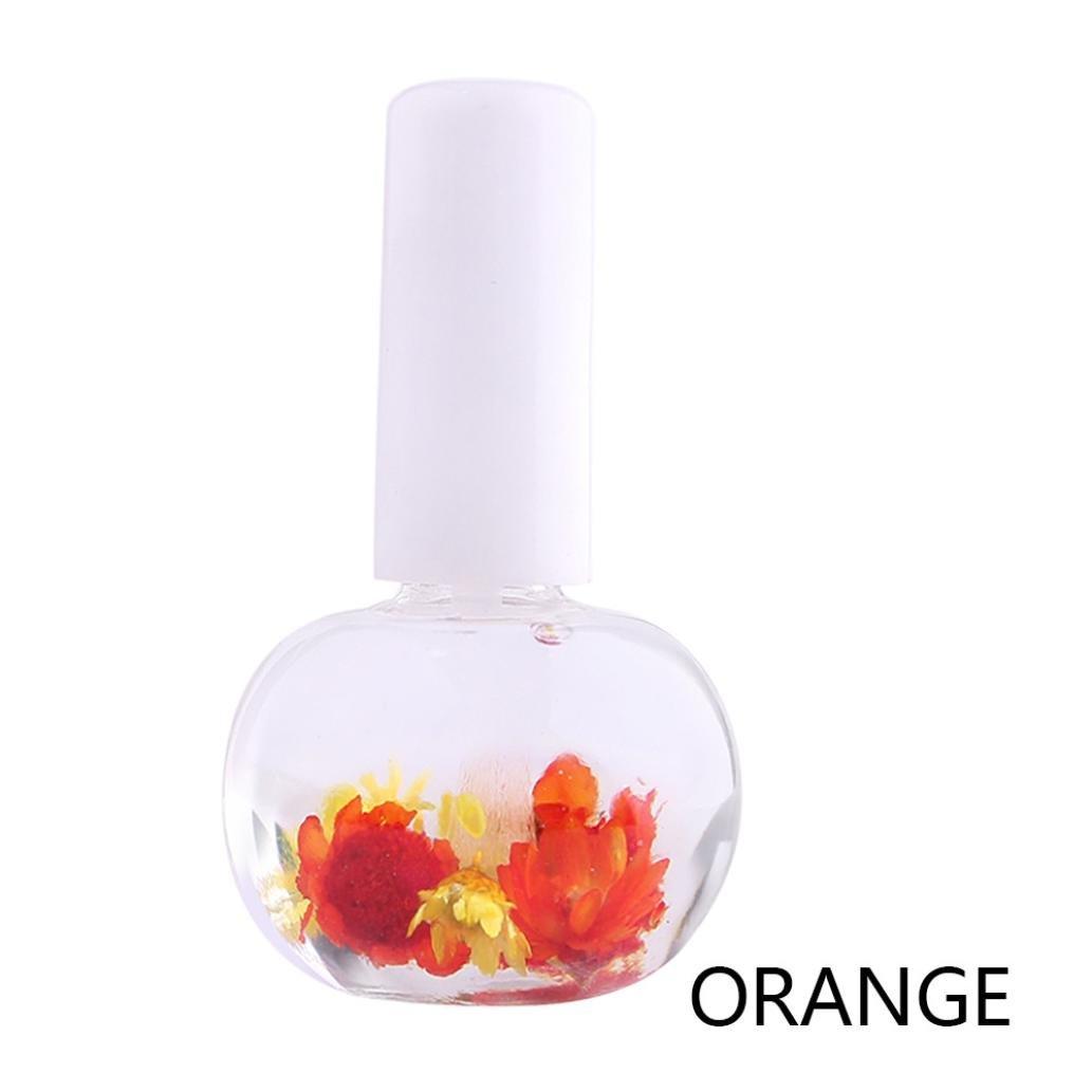 1pz mix gusti fiori secchi olio per cuticole penna nail art Care trattamento set manicure, B taottao
