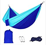 Auspicious clouds Single Outdoor Camping Hammock Ultra-Lightweight Parachute Cloth Maximum Carrying Weight 660 Pounds Outdoor Travel Mountaineering and Adventure (106x55)