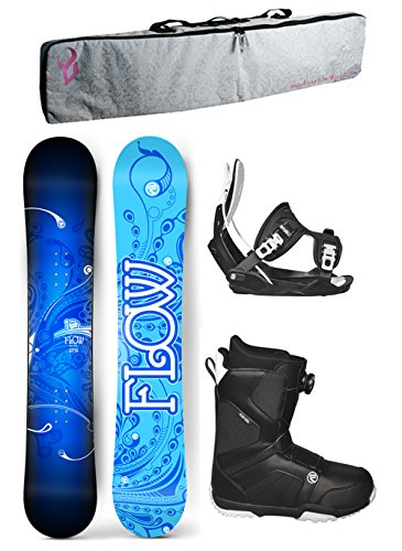 's Complete Snowboard Package Flow Bindings Flow BOA Boots PADDED BAG - Board Size 140 (Boot Size 6) ()