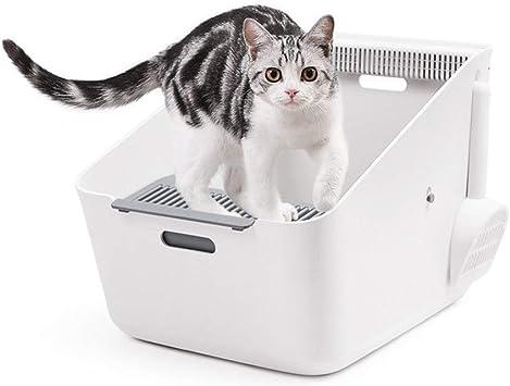 UNIIKE Gatos Aseo Arenero Abierto para Mascotas Gatos Bandeja ...