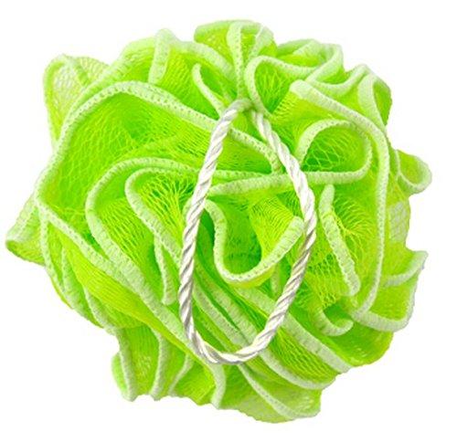 Huachnet Light Green HDPE Mesh Exfoliating Bath Sponge Shower Pouf Loofah - Pack of 1