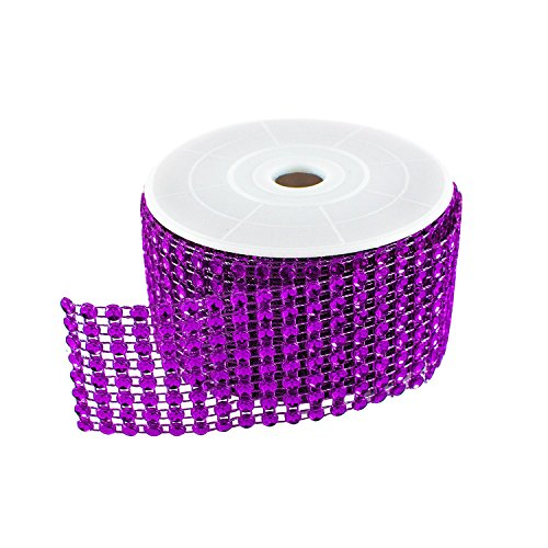Diamond Sparkling Rhinestone Mesh Ribbon Roll for Arts & Crafts, Event Decorations, Wedding Cake, Birthdays, Baby Shower, 1.5