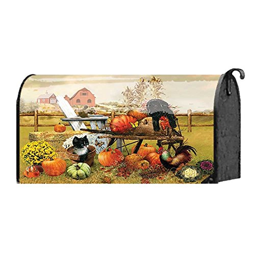 Marigold Autumn Farm Harvest 18 x 22 Harvest Standard Size Mailbox Cover Dicksons