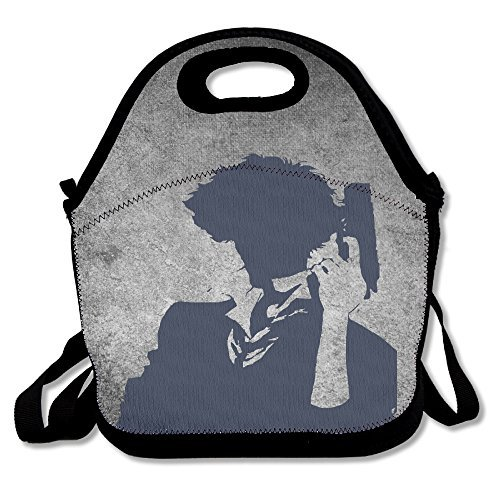 Bakeiy Cowboy Bebop Lunch Tote Bag Lunch Box Neoprene Tote For Kids And Adults For Travel And Picnic School