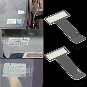 ANGELS--2x Car Vehicle Parking Ticket Permit Holder Clip Sticker Windscreen Window Kit