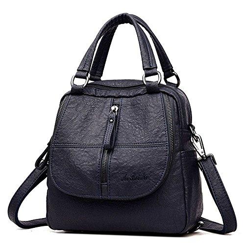 YIMOJI de mochila para Piel mujer Azul Otra Bolso COPCq7nw1