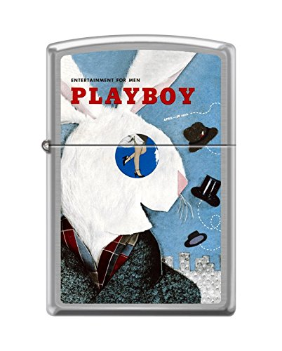 Zippo Playboy Cover April 1954 Pocket Lighter, Brushed Chrome
