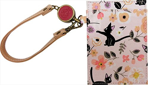 Ghibli Kiki's Delivery Service ensemble textile series (Flower Garden) pass case with a reel From Japan (Geisha Costume Australia)