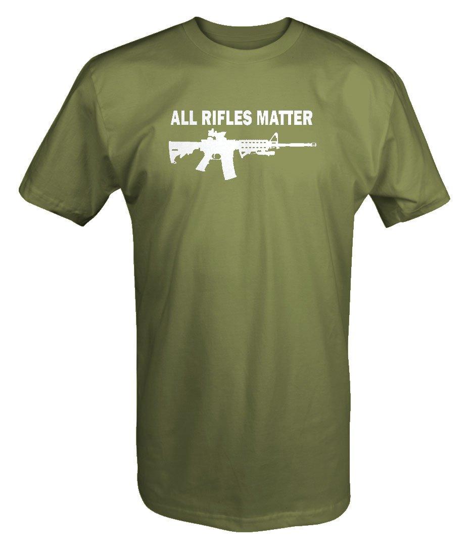All Rifles Matter Black AR-15 Tactical Gun T shirt - Xlarge