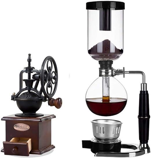 FYHKF Cafeteras de vacío Juego de café Siphon Coffee Maker Set ...