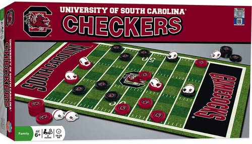 MasterPieces NCAA South Carolina Fighting Gamecocks Checkers Game