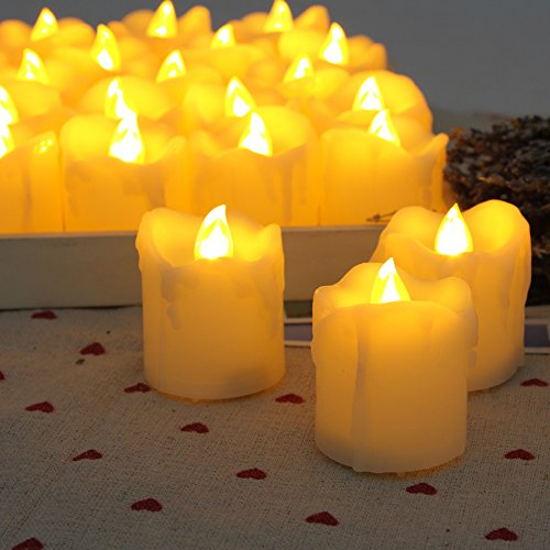 Candle Choice Flameless Candle with Timer, 6 Hours On and 18 Hours Off, 12 Pack Battery Votive Candles Timers, 1.7x2.0