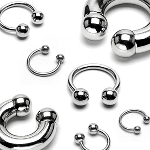 (Dynamique Basic Circular/Horseshoe Barbell 316L Surgical Steel (Sold per Piece))