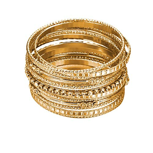 HCDjgh Metal Exaggerated Bracelet Ladies Jewelry Europe And America Multilayer Diamond (Gold)