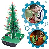 IS ICStation DIY 3D Xmas Tree Soldering Practice Electronic Science Assemble Kit 3 Color Flashing LED PCB Solder Tool