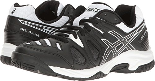 Kids Volleyball Shoes - ASICS Boys' Gel-Game 5 GS Skate Shoe, Black/White, 1.5 M US Big Kid