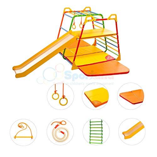 Klettergerüst FrühReif Premium Komplettset inkl. Rutsche Kletterturm Spielturm Turngerät Kinder