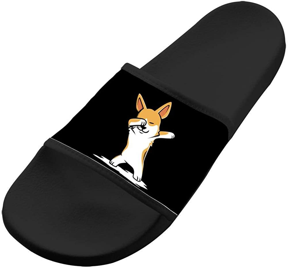 Shoes Unisex Non-Slip Funny Dabbing Corgi Fashion Slide Sandals Indoor /& Outdoor Slippers