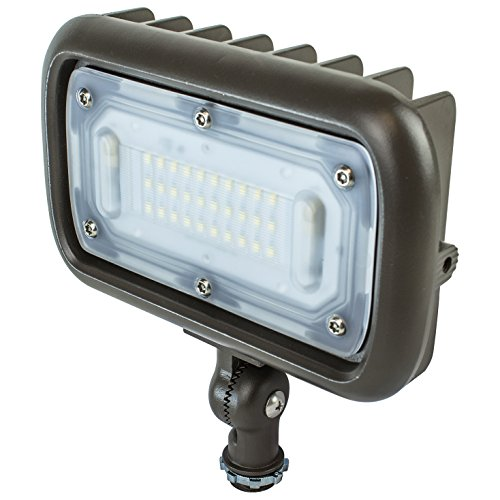 Newhouse Lighting WW30BRZ 30-Watt Outdoor LED Wall Wash Flood Light, Weatherproof, Bronze