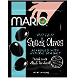 Cheap Mario Camacho Foods Green Pitted Snack Olive 3-Pouch Tripack, Natural Sea Salt, 3.15 Ounce (Pack of 4)