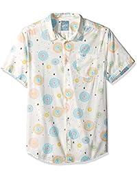 Men's Fireworks Short Sleeve Woven Button Down Shirt