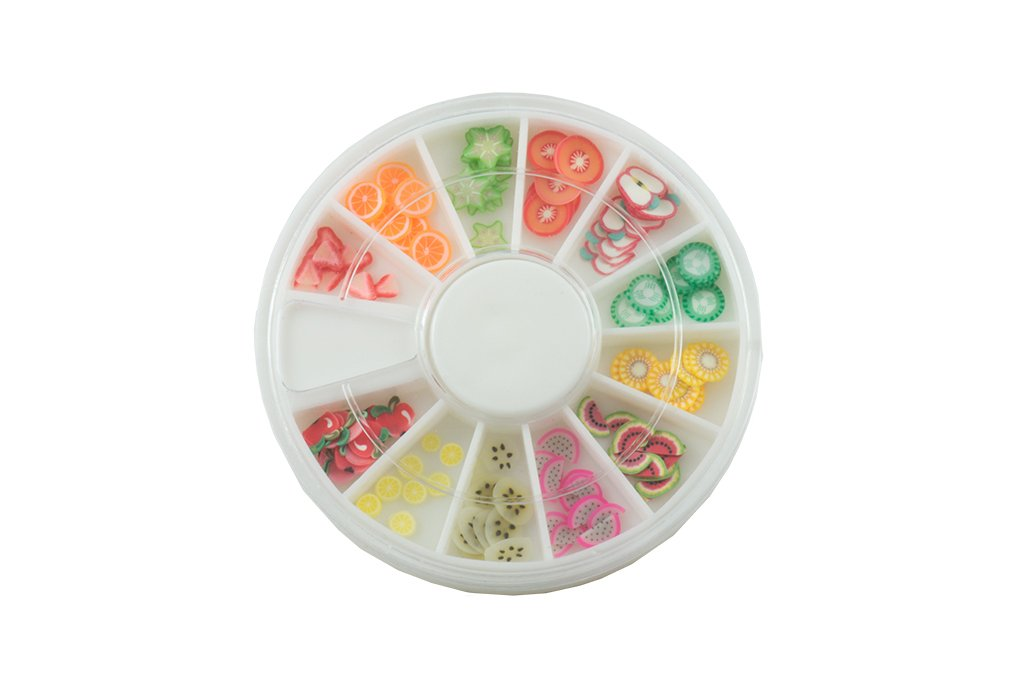 Fimo Wheel Fruits 120 pieces NAILS FACTORY