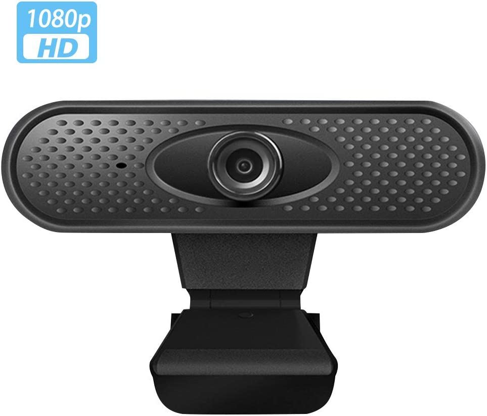 1080p Streaming Camera, Desktop or Laptop Webcam with Built-in Dual Microphone Facial-Enhancement Technology 110-Degree Live Streaming Widescreen Webcam HD Full Gaming Computer Camera