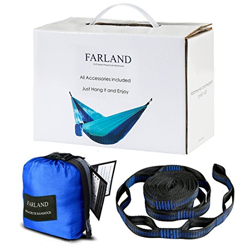 Outdoor-Camping-Hammock-Portable-Anti-fade-Nylon-Single-Double-Hammock-with-2-Piece-14-or-16-Loop-Straps-by-FARLAND-Parachute-Lightweight-Hammock