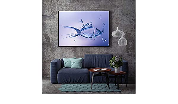 tzxdbh Nordic Wall Art Shark Dolphin Canvas Painting Picture ...