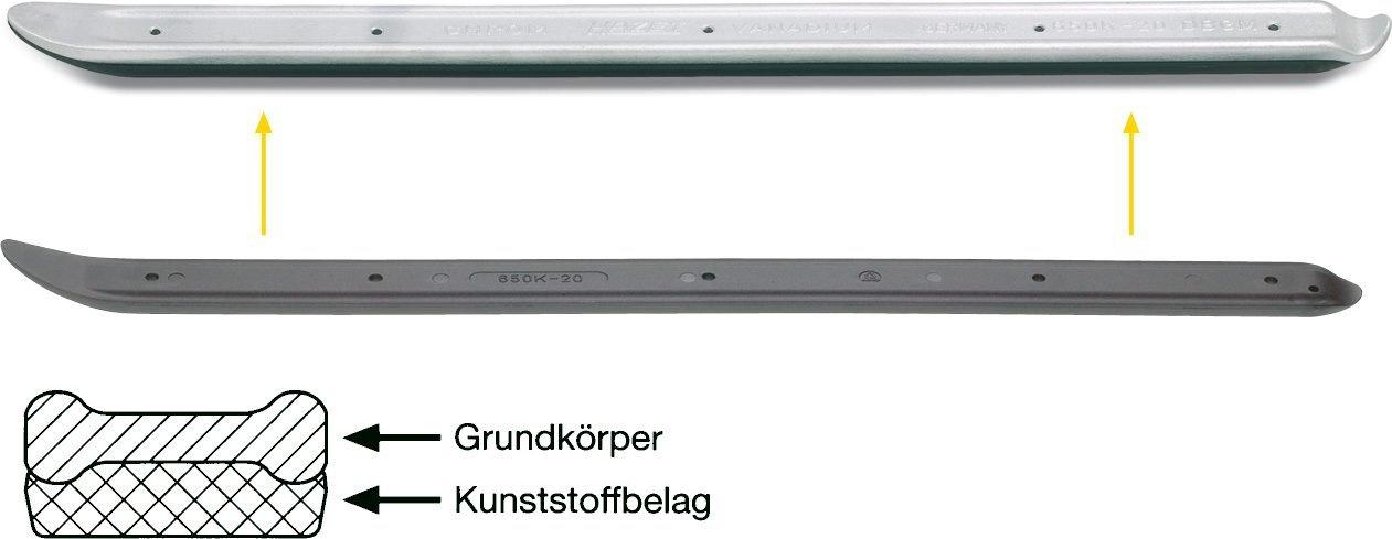650-20 f/ür PKW und Transporter, Doppel-T-Profil f/ür hohe Stabilit/ät, L/änge: 500 mm und Montagehebel HAZET Reifen