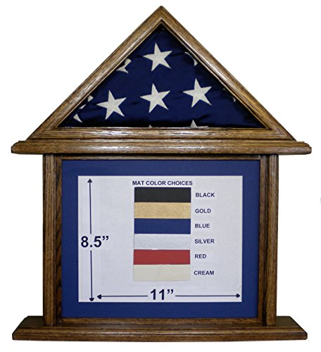oak flag display case 3x5 - 6
