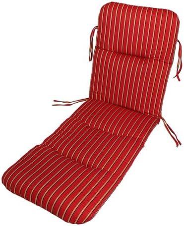 Comfort Classics Inc. Sunbrella Outdoor Chaise Cushion Harwood Crimson