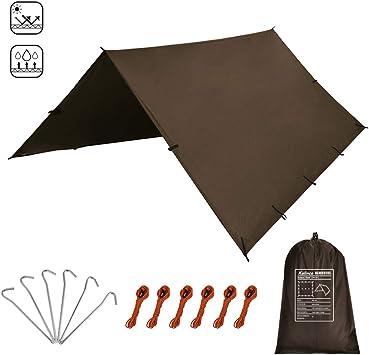 KALINCO Lona de tienda de campaña para hamaca, protección contra la lluvia, toldo para camping, impermeable, anti UV