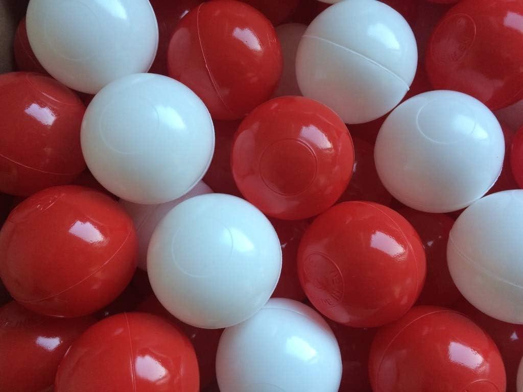 aussergewoehnlich/®  200 B/ällebad B/älle Spielb/älle Wurfmaterial Karneval /Ø 6 cm BLAU /& Weiss