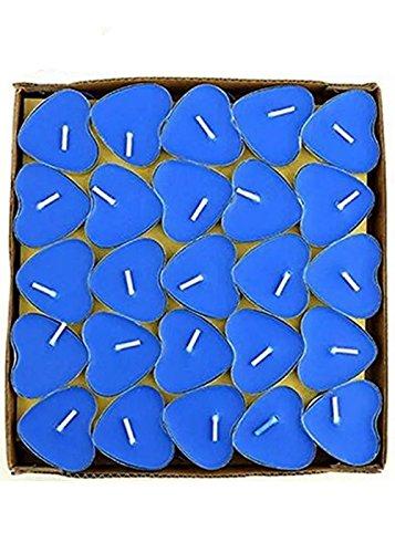 G2PLAY Heart Shaped Smokeless Candles, 50pcs Set Romantic