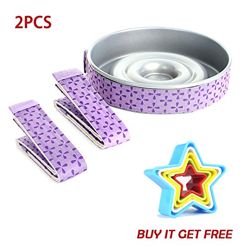 Bake Even Cake Strips & Star Cookie Cutter set, Super Absorbent Thick Cotton,Cake Pan Dampen Strips, Cake Strips for Baking,Cake Pan Strips.