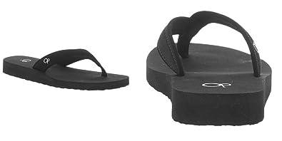 4818507e91c OP Women s Yoga Mat Thong Flip-Flop Sandals (11-12) Black