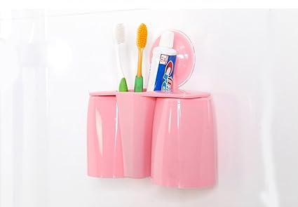 comfspo plástico soporte para cepillos de dientes con ventosa de baño de almacenamiento organizador para Dental