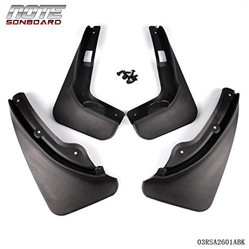 Mud Flap Splash Guards Fender Mudguard For 2011-2014 MERCEDES BENZ C-CLASS SEDAN Black