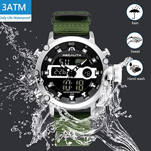 MEGALITH Mens Sports Watches Military Digital Gents Watch Chronograph Waterproof Wrist Watches for Man Boys Kids with… 4