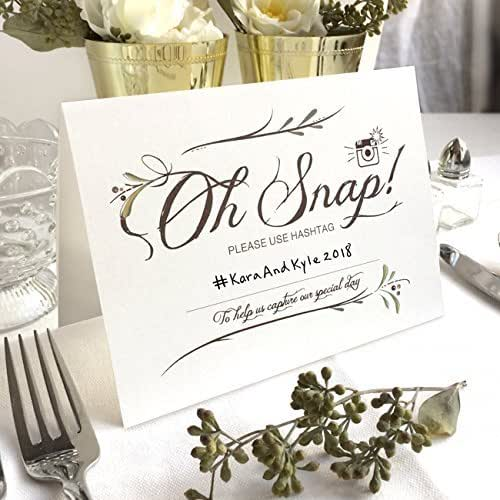 Instagram Wedding Hashtag: Amazon.com: 4 Pack- Instagram Wedding Hashtag Signs