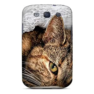 Durable Defender Cases For Galaxy S3 Tpu Covers(shy Cat)