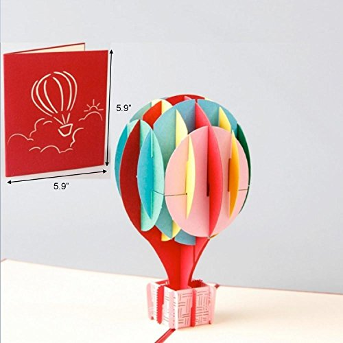 3D Balloon Pop Up Card and Envelope - Funny Unique Pop Up Greeting Card for Birthday, Mother's Day, New Year, Anniversary, Valentine, Wedding, Graduation, Thank You. Colorful (Balloons Greeting Card)