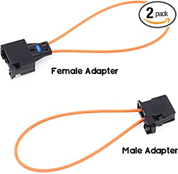 YIOVVOM Fiber Most Optic Loop Connector Diagnostic Device Tool Bypass Female And Male Adapter For Benz Audi Mercedes BMW VW Porsche Mercedes Benz Audi VW Porsche Pack of 2