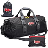 Supremacy 240 Extended Edition With FREE LAUNDRY BAG - Foldable Large Waterproof Sports Duffle Bag For Men - More Capacity 41L & Ultra Lightweight 0.80 lb - 24 Inch By IGRU Sport
