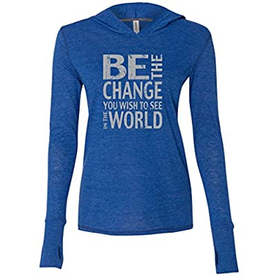 """Nice Yoga Clothing For You Ladies """"Be the Change"""" Lightweight TriBlend Hoodie hot sale"""